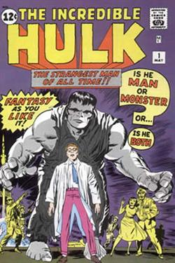 Incredible Hulk #1<br>Copertina originale di Jack Kirby<br><i>(c) 1962 Marvel Comics</i>
