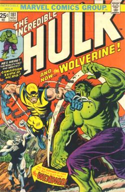 The Incredible Hulk Volume 2 n. 181<br>disegno di Herb Trimpe<br><i>(c) 1974 Marvel Comics</i>