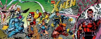 Gli X-Men di Jim Lee<br>copertina di X-Men 1<br><i>(c) 1991 Marvel Comics</i>