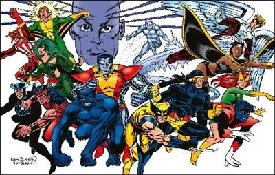 X-Men All Time<br>foto di gruppo con mutante<br><i>(c) Marvel Comics</i>