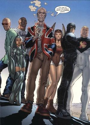 The Authority-G7<br>Disegni di Frank Quitely<br><i>(c) WildStorm Productions/DC Comics</i>