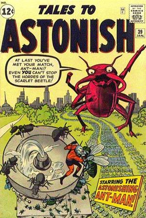 Tales of Astonish 39<br>Ant Man deve fronteggiare Scarlet Beetle<br><i>(c) 2005 Marvel Comics</i>