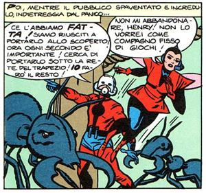 Ant Man e Wasp<br>Una vignetta tratta dalla Collana: I grandi eroi Marvel 4 - Vendicatori 1<br><i>(c) 2005 Marvel Comics</i>