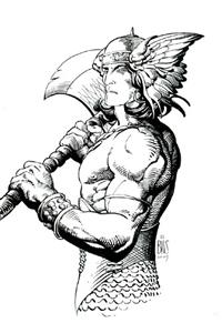 Conan nella seconda versione di Barry Windsor Smith<br><i>(c) Marvel Comics</i>