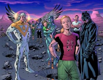 The Authority<br>Disegni di Bryan Hitch<br><i>(c) WildStorm Productions/DC Comics</i>