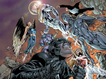 I membri di The Authority<br>illustrazione di Bryan Hitch<br><i>(c) WildStorm Productions/DC Comics</i>