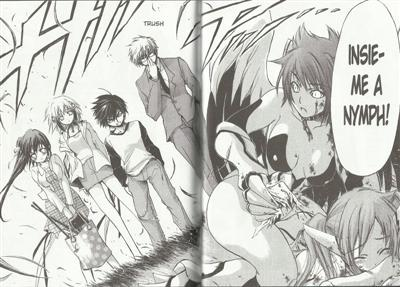 Showdown!<br>Da sinistra: Sonohara, Ikaros, Tomoki, Sugata<br><i>(c) 2012 Planet Manga</i>